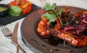 Gambas grillées au vinaigre balsamique