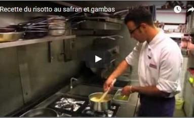 Recette du risotto au safran et gambas
