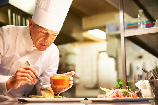 Elegantia Restaurant Chef at Work